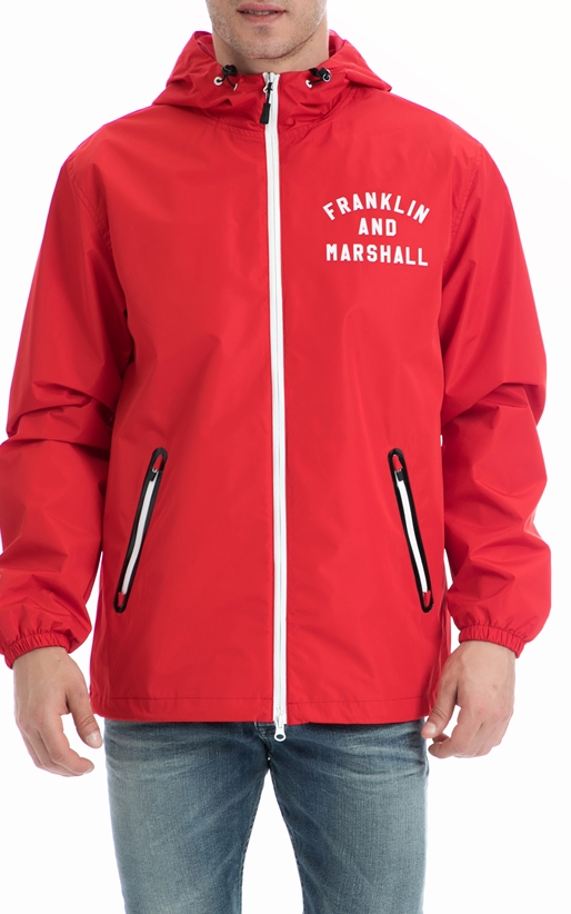 FRANKLIN & MARSHALL-Ανδρικό τζάκετ Franklin & Marshall κόκκινο
