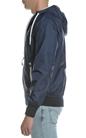 FRANKLIN & MARSHALL-Ανδρικό μπουφάν FRANKLIN & MARSHALL μπλε