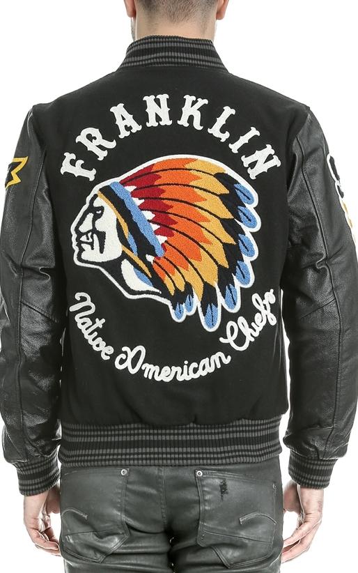 FRANKLIN & MARSHALL-Αντρικό μπουφάν FRANKLIN & MARSHALL μαύρο