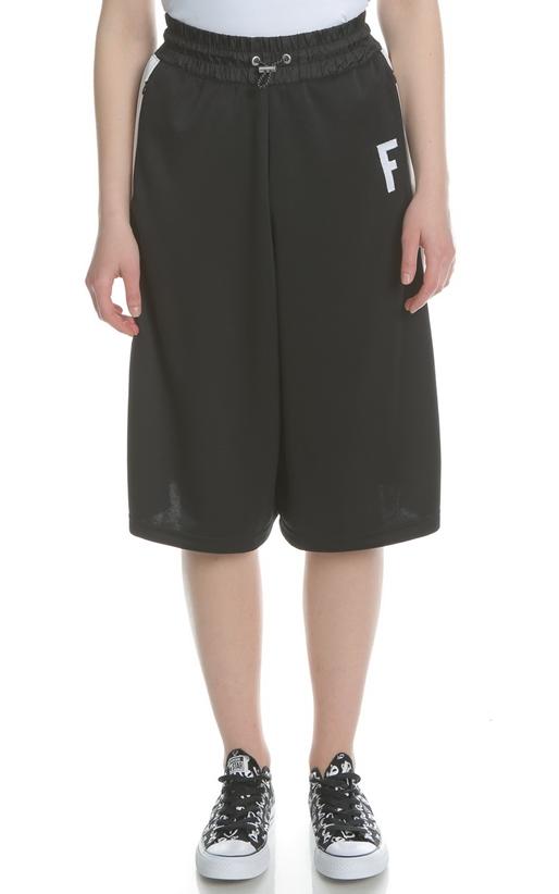 FRANKLIN & MARSHALL-Γυναικεία cropped παντελόνα FRANKLIN & MARSHALL μαύρη