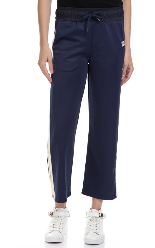 FRANKLIN & MARSHALL-Γυναικείο παντελόνι FRANKLIN & MARSHALL μπλε