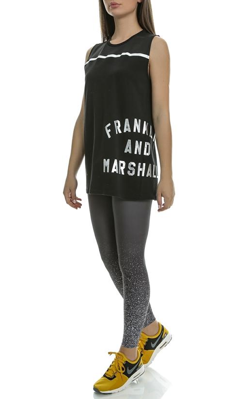 FRANKLIN & MARSHALL-Γυναικείο κολάν FLEECE PANTS UNI UNI LONG γκρι