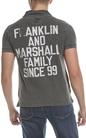 FRANKLIN & MARSHAL-Ανδρική πόλο μπλούζα FRANKLIN & MARSHALL ανθρακί