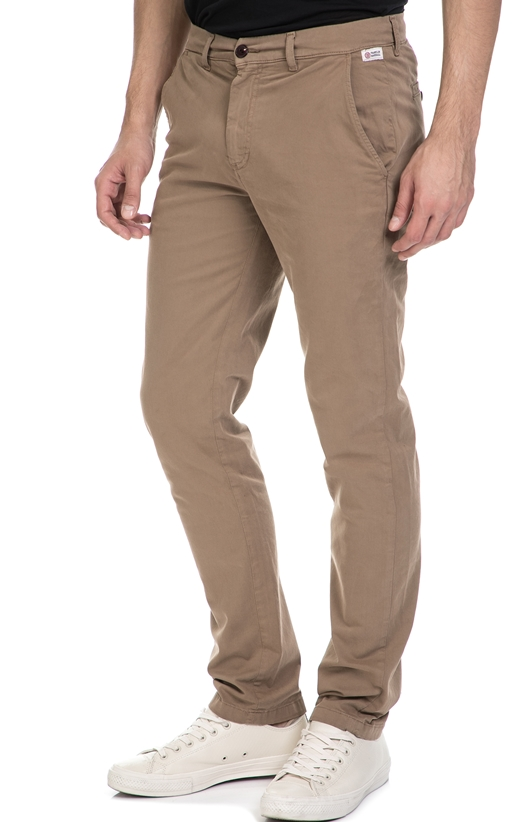 FRANKLIN & MARSHALL-Ανδρικό παντελόνι FRANKLIN & MARSHALL μπεζ
