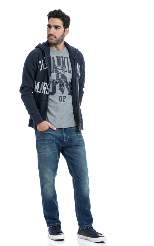 FRANKLIN & MARSHALL-Αντρικό παντελόνι FRANKLIN & MARSHALL μπλε