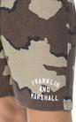 FRANKLIN & MARSHALL-Aνδρική βερμούδα Franklin & Marshall καφέ