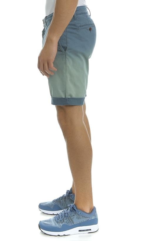 FRANKLIN & MARSHALL-Ανδρική βερμούδα TEXTILE SHORTS GABARDINE μπλε