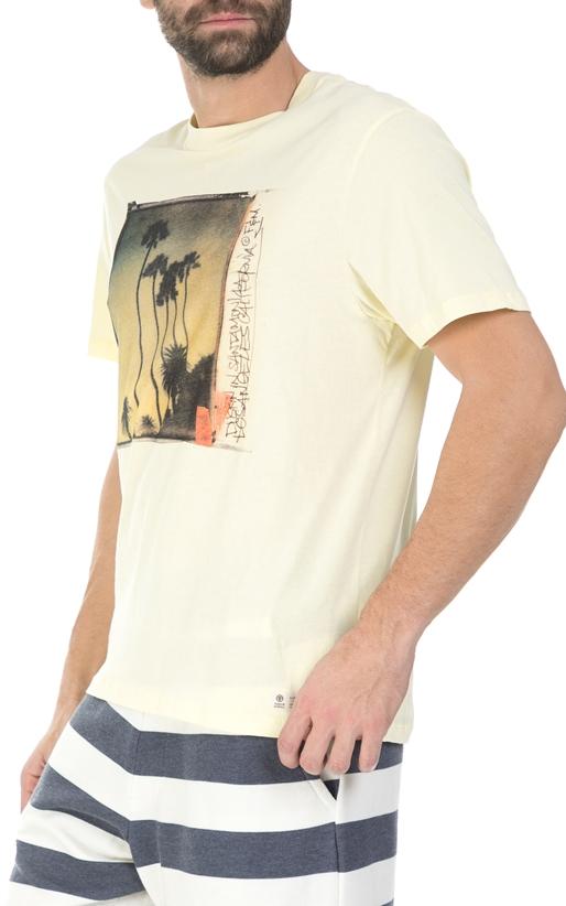 FRANKLIN & MARSHALL-Ανδρική κοντομάνικη μπλούζα Franklin & Marshall κίτρινη