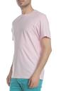 FRANKLIN & MARSHALL-Ανδρική κοντομάνικη μπλούζα FRANKLIN & MARSHALL ροζ