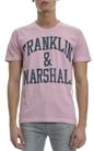 FRANKLIN & MARSHALL-Ανδρική μπλούζα Franklin & Marshall ροζ-μωβ