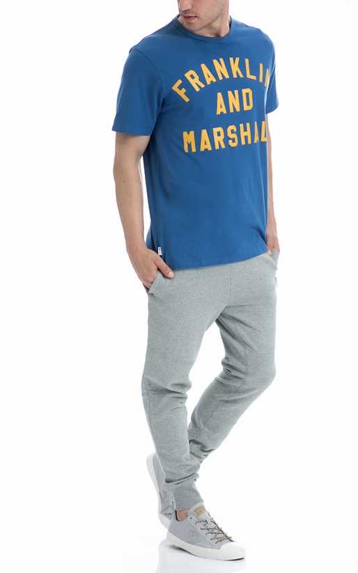 FRANKLIN & MARSHALL-Ανδρική μπλούζα Franklin & Marshall μπλε