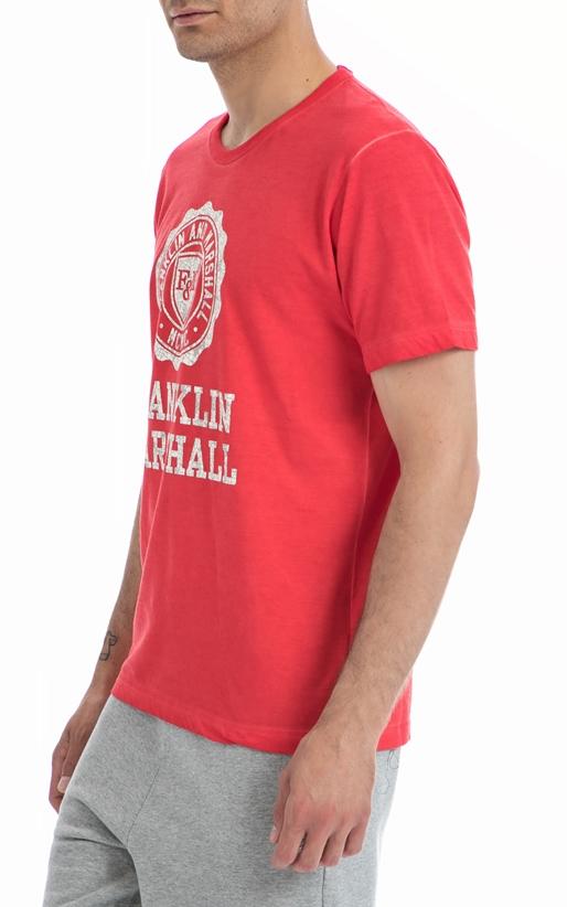 FRANKLIN & MARSHALL-Ανδρική μπλούζα Franklin & Marshall κόκκινη