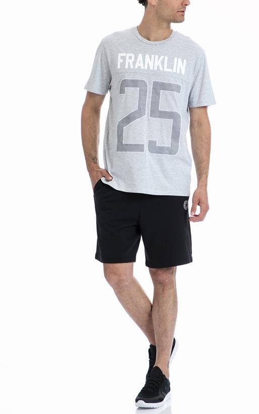 FRANKLIN & MARSHALL-Ανδρική μπλούζα Franklin & Marshall γκρι