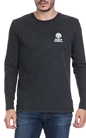 FRANKLIN & MARSHALL-Ανδρική μπλούζα FRANKLIN & MARSHALL μαύρη