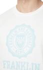 FRANKLIN & MARSHALL-Ανδρικό t-shirt Franklin & Marshall JERSEY ROUND NECK λευκό