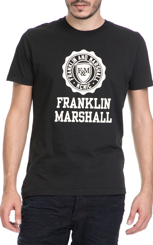 FRANKLIN & MARSHALL-Ανδρικό T-shirt FRANKLIN & MARSHALL μαύρο
