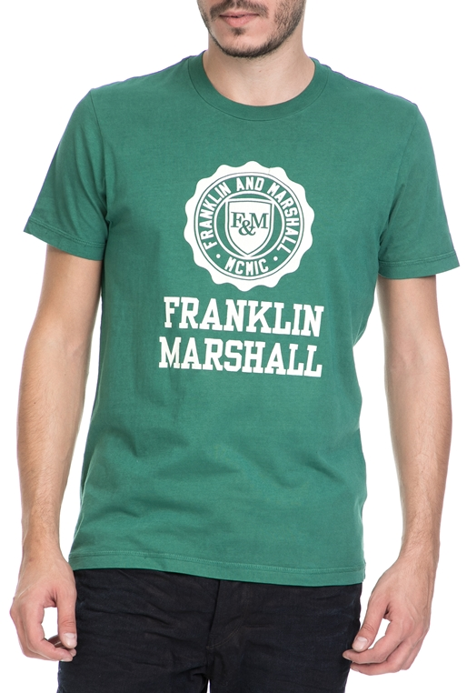 173edb8fd8de FRANKLIN   MARSHALL-Ανδρικό T-shirt FRANKLIN   MARSHALL πράσινο