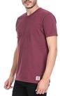 FRANKLIN & MARSHALLL-Ανδρικό T-shirt FRANKLIN & MARSHALL μοβ