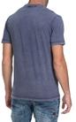 FRANKLIN & MARSHAL-Ανδρική μπλούζα JERSEY ROUND NECK SHORT μπλε