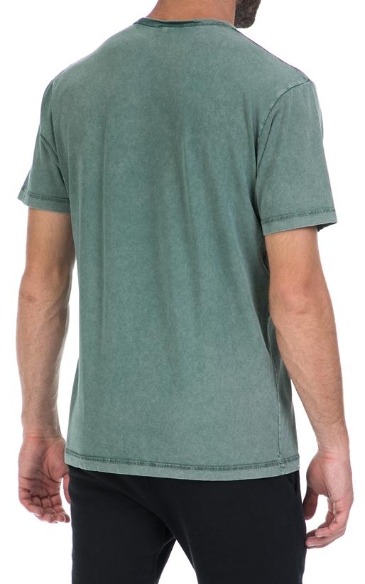 FRANKLIN & MARSHALL-Αντρική μπλούζα FRANKLIN & MARSHALL πράσινη
