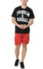 FRANKLIN & MARSHALL-Ανδρικό t-shirt Franklin & Marshall JERSEY ROUND NECK μαύρο