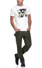 FRANKLIN & MARSHALL-Ανδρική μπλούζα JERSEY ROUND NECK SHORT λευκή