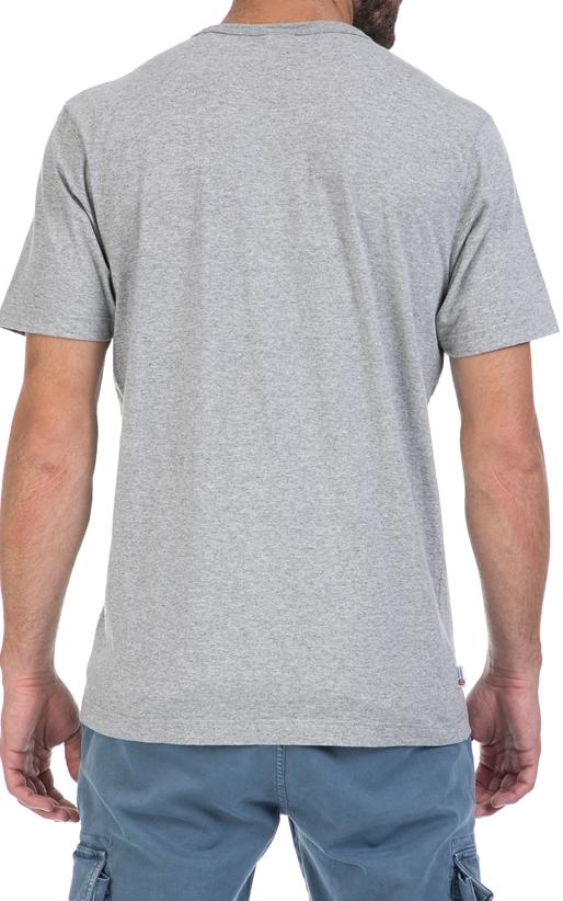 FRANKLIN & MARSHALL-Αντρική μπλούζα FRANKLIN & MARSHALL γκρι