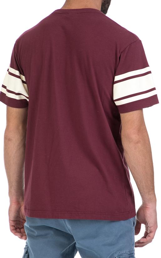 FRANKLIN & MARSHALL-Αντρική μπλούζα FRANKLIN & MARSHALL μπορντώ