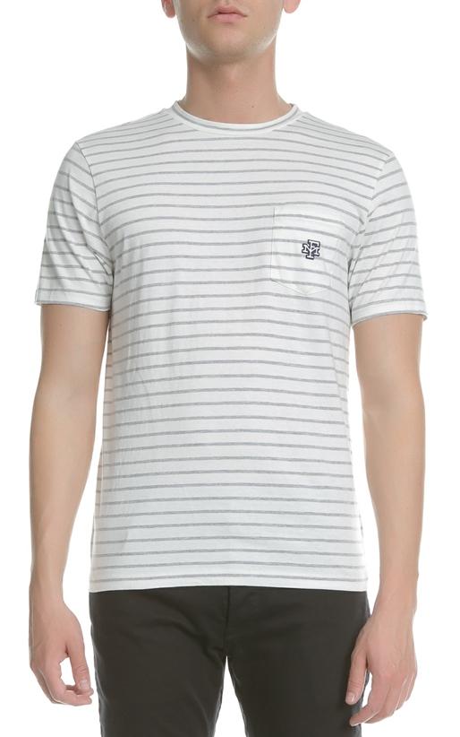 FRANKLIN & MARSHALL-Ανδρική κοντομάνικη μπλούζα Franklin & Marshall ριγέ