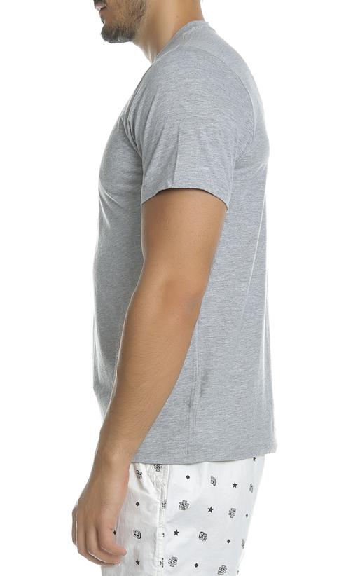 FRANKLIN & MARSHALL-Ανδρική κοντομάνικη μπλούζα Franklin & Marshall γκρι