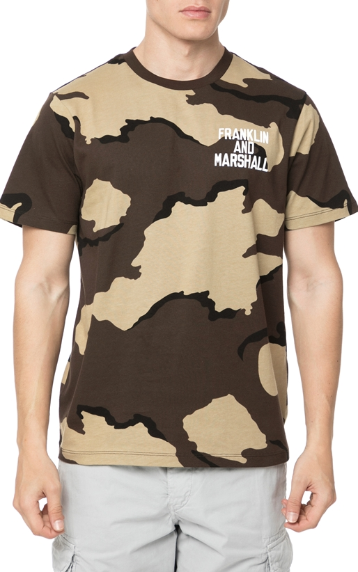 FRANKLIN & MARSHALL-Ανδρικό t-shirt Franklin & Marshall JERSEY ROUND NECK παραλλαγή