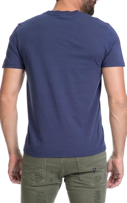 FRANKLIN & MARSHALL-Αντρική μπλούζα FRANKLIN & MARSHALL μπλε