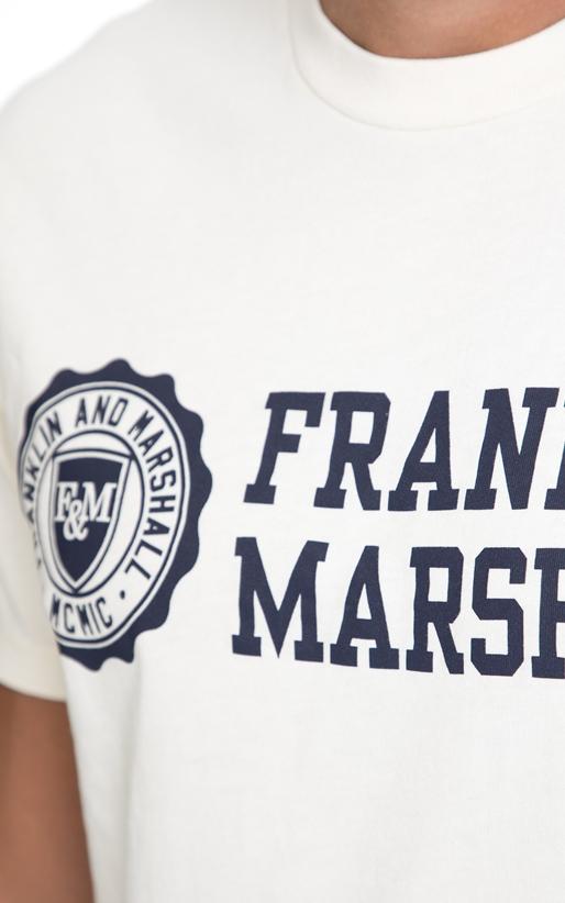 FRANKLIN & MARSHALL-Αντρική μπλούζα FRANKLIN & MARSHALL άσπρη