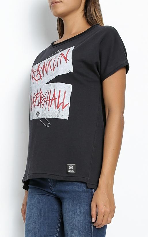 FRANKLIN & MARSHALL-Γυναικεία μπλούζα Franklin & Marshall μαύρη