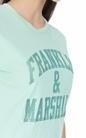 FRANKLIN & MARSHALL-Γυναικεία κοντομάνικη μπλούζα Franklin & Marshall πράσινη