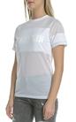 FRANKLIN & MARSHALL-Γυναικείο t-shirt Franklin & Marshall UNI ROUND NECK λευκή