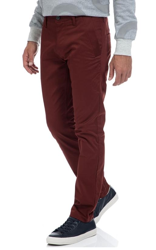G-STAR RAW-Αντρικό παντελόνι G-STAR RAW μπορντό