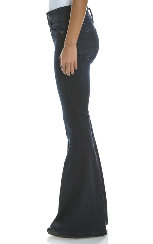 G-STAR-Γυναικείο τζιν παντελόνι Lynn High Flarestream G-STAR μπλε