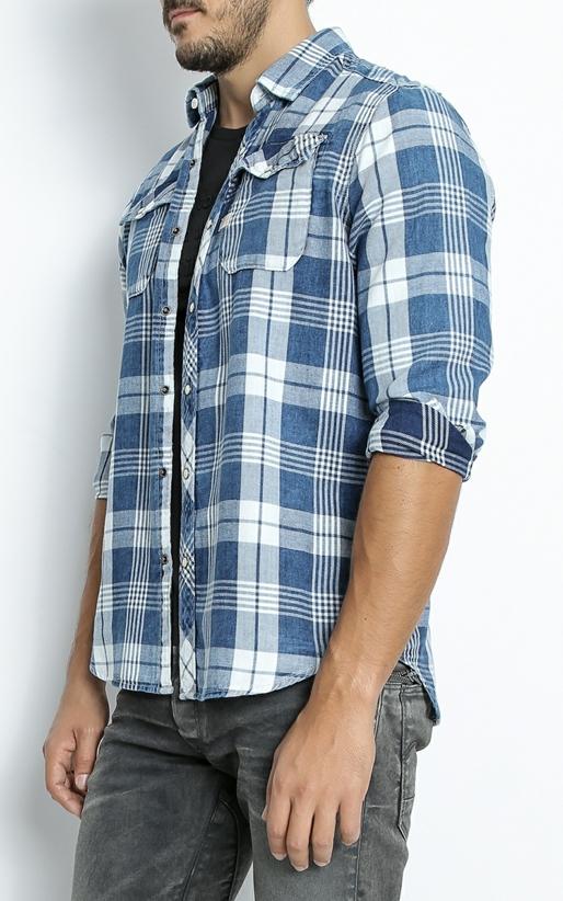G-STAR RAW -Ανδρικό πουκάμισο G-Star RAW Landoh καρό