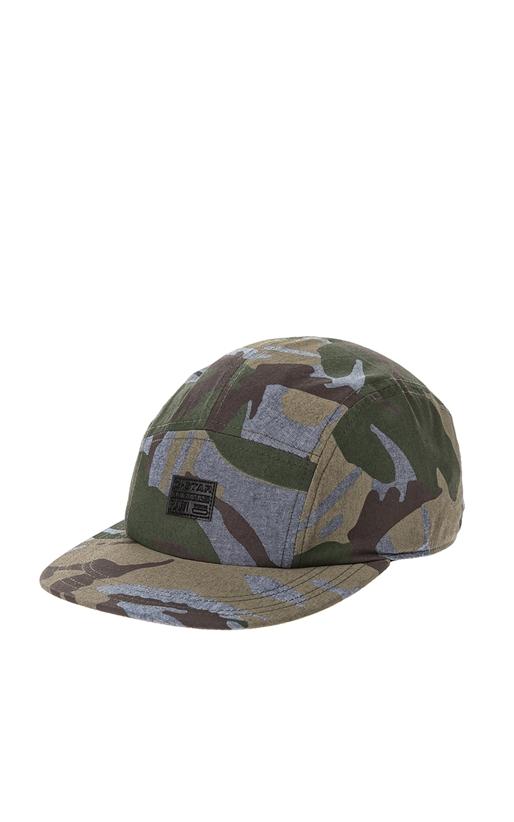 G-STAR-Ανδρικό καπέλο Estan G-STAR γκρι-χακί