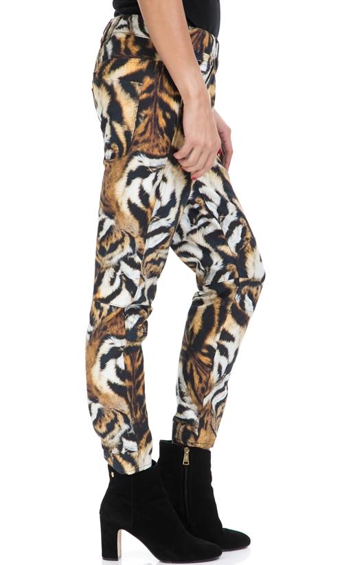 G-STAR RAW-Γυναικείο παντελόνι 3D MID BOYFRIEND COJ G-STAR καφέ-μαύρο