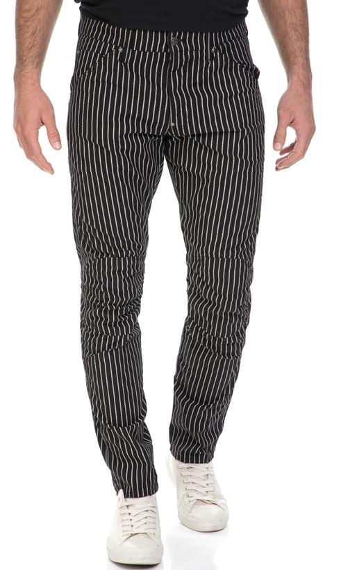G-STAR RAW-Ανδρικό παντελόνι 3D Tapered COJ G-STAR μαύρο-λευκό