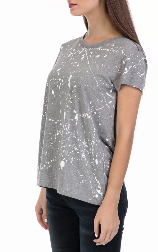 G-STAR RAW-Γυναικεία μπλούζα Luuto splatter straight γκρι
