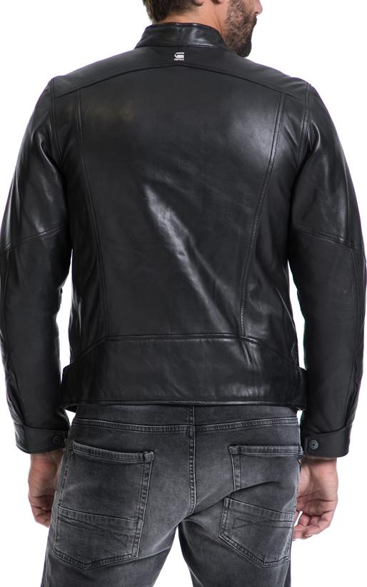 G-STAR-Αντρικό τζάκετ Deline leather jkt ΜΠΟΥΦΑΝ ΔΕΡΜΑΤΙΝΟ