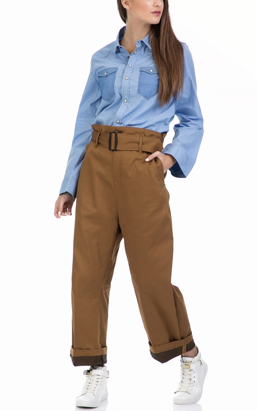 G-STAR-Γυναικείο παντελόνι G-STAR RAW καφέ