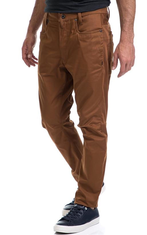 G-STAR RAW-Ανδρικό παντελόνι D-Staq 3D Tapered G-STAR RAW καφέ
