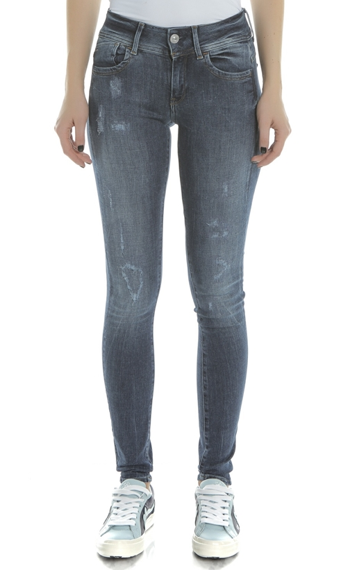 G-STAR-Γυναικείο τζιν παντελόνι LYNN D-MID SUPER SKINNY G-STAR μπλε