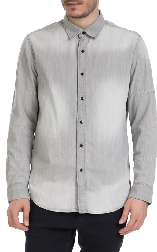 G-STAR-Ανδρικό τζιν πουκάμισο G-Star γκρι