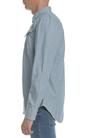 G-STAR-Ανδρικό μακρυμάνικο πουκάμισο G-Star ριγέ μπλε - λευκό
