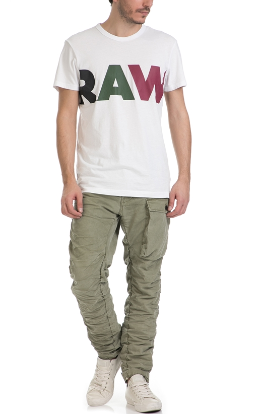 G-STAR RAW-Ανδρικό παντελόνι G-Star TENDRIC 3D TAPERED χακί